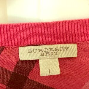 Burberry pup over 3/4 sleeve.